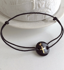Porcelain Cross Your Heart Bracelet -  Christian Jewelry