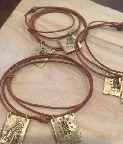 Brown Scapular Necklace