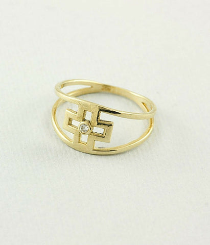 Double Band Cross Ring