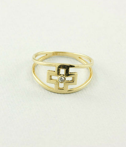Double Band Cross Ring -  Christian Jewelry
