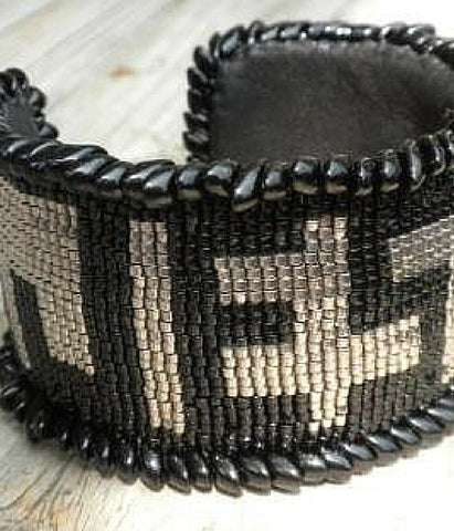 Jesus Beaded Cuff Bracelet -  Christian Jewelry