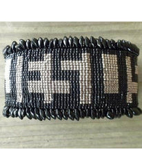 Jesus Beaded Cuff Bracelet - Christian Jewelry  - 3