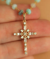 Layered Mint Rosary Necklace - Christian Jewelry  - 3