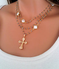 Layered Rosary Necklace - Christian Jewelry  - 3