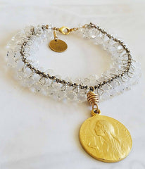 Mary of Magdala Crystal Bracelet -  Christian Jewelry