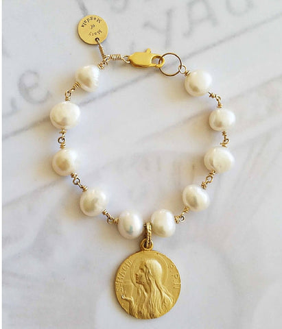 Mary of Magdala Pearl Bracelet