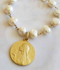 Mary of Magdala Pearl Bracelet -  Christian Jewelry