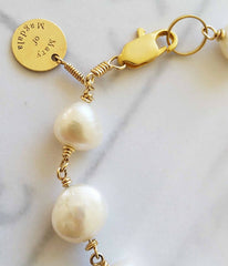 Mary of Magdala Pearl Bracelet - Christian Jewelry  - 3