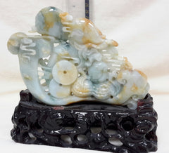 Rare multiple color jade Dragon with (Ruyi) means wishes fulfilled