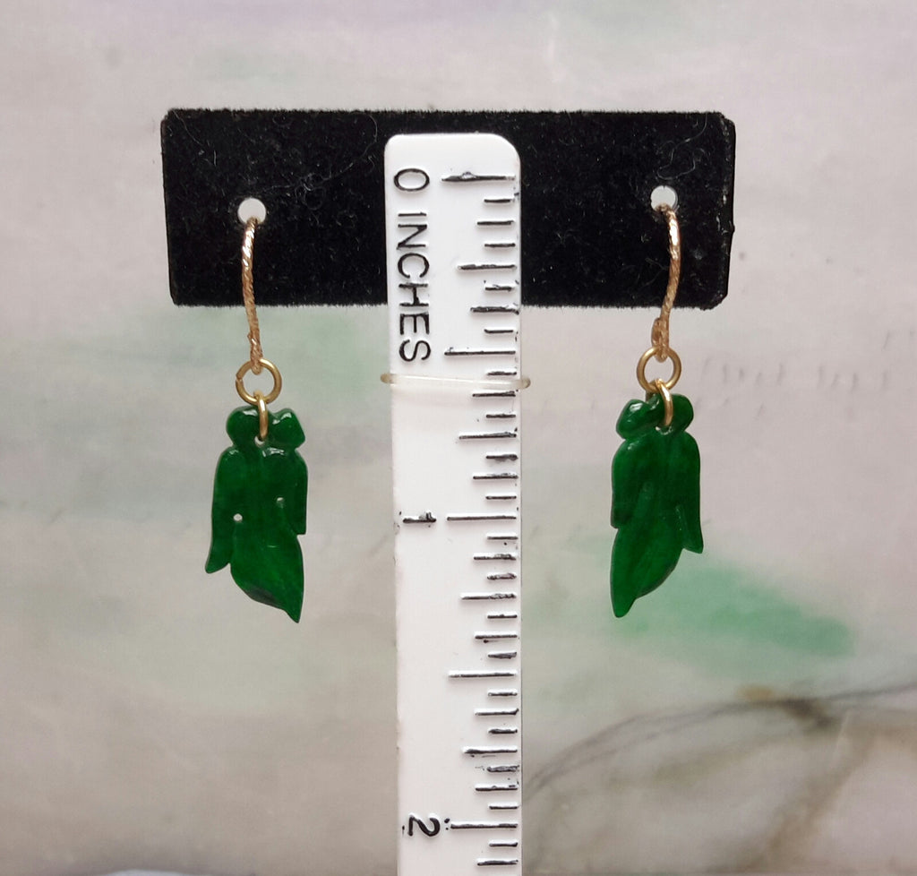 Jadeite natural color earrings
