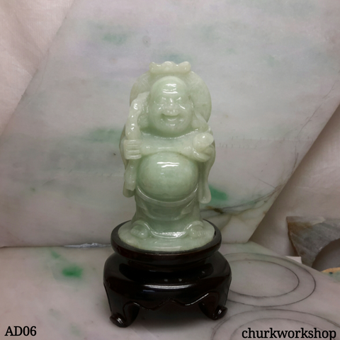 Light green happy Buddha