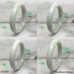 Upper arm light green jade bangle