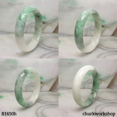 Spinach green jade bangle