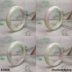 Light green mix with lavender jade bangle