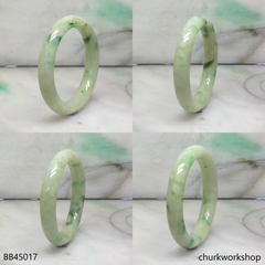 Light green with splotches dark green baby bangle