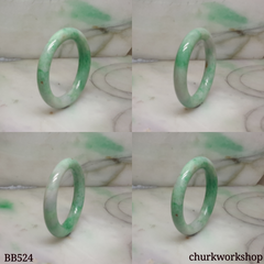 Apple green baby jade bangle