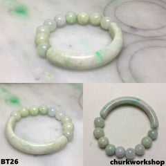 Light green beads bracelet