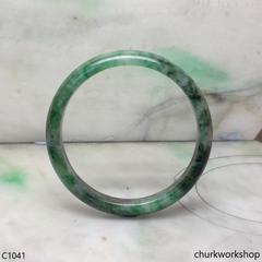 Bluish green jade bangle
