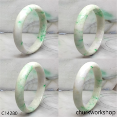 Pale lavender with splotches apple green bangle