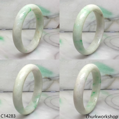 Pale green base with green jade bangle