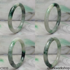 Mix bluish green  jade bangle
