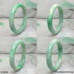 Small light apple green jade bangle