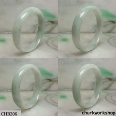 Pale green jade bangle