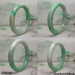 Apple green jade bangle