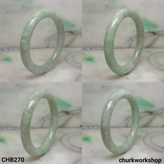 Light pea green jade bangle
