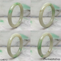 Light green with splotches green jade bangle