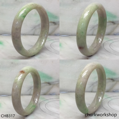 Light green with lavender jade bangle