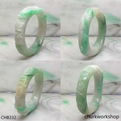 Carved jade bangle