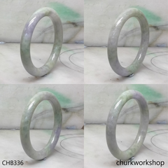 Grayish lavender mix green jade bangle