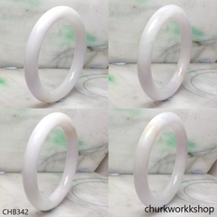 Reserved to Sherry    Large white jade bangle