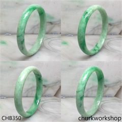 Extra large green jade bangle