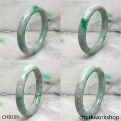 Large green jade bangle