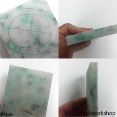 Custom cut jade cuff