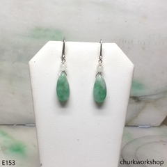 Light green jade earrings
