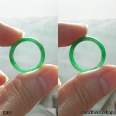 Green jade band, unisex jade bend