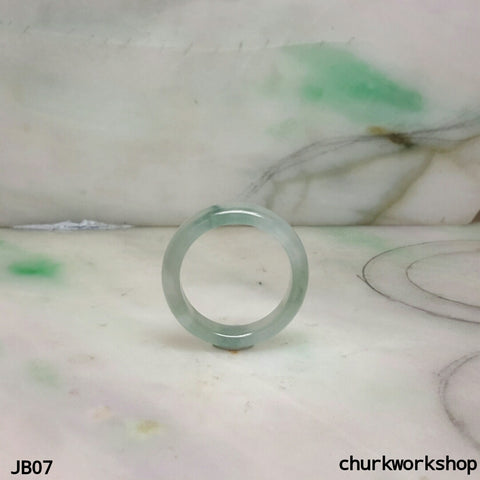 Icy light green jade band, unisex jade bend
