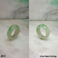 Light green jade band, unisex jade bend