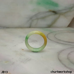 Three color jade band, unisex jade bend