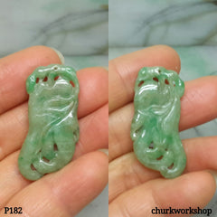 Light green jade carved pendant