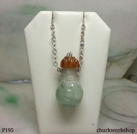 Essential oil diffuser jade necklace