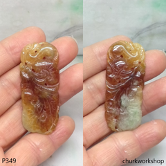 Red jade carving pendant