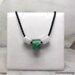 Jade tubes necklace