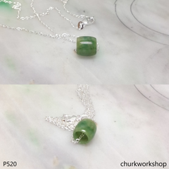 Small jade tubes necklace