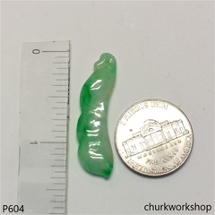 Apple green small jade bean pendant