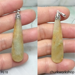 Yellowish color flat rain drop pendant