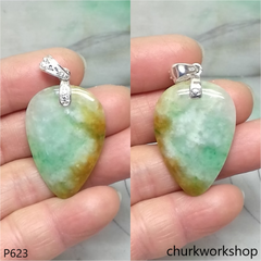 Multi color jade pendant